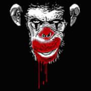 Evil Monkey Clown Art Print
