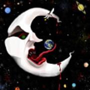 Evil Moon Art Print