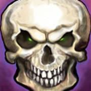 Evil Skull Art Print