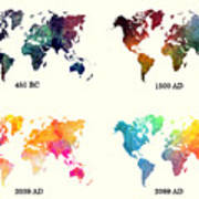 Evolution Of The World Map Digital Art by Justyna Jaszke ...
