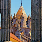 Evora's Cathedral Tower Art Print
