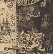 Ex-libris De L?on Lerey (ex-libris Of Leon Lerey) Art Print