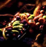 Exotic Fruit Platter Art Print
