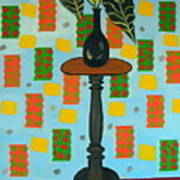 Exotic Plant On Stand Art Print
