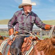 Experienced Cowboy Art Print