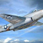 Experimental Jet Fighter Xp-83 In Fly Art Print