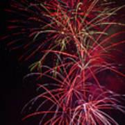 Exploding Festive Fireworks Art Print