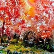 Exploding Nature Art Print