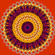 Expression No. 7 Mandala Art Print