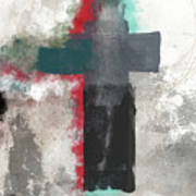 Expressionist Cross 4- Art By Linda Woods Art Print