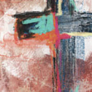 Expressionist Cross 5- Art By Linda Woods Art Print