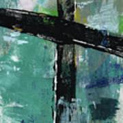 Expressionist Cross 8- Art By Linda Woods Art Print