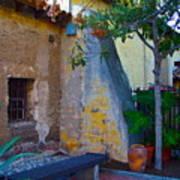 Exterior Wall Of Serra Chapel Mission San Juan Capistrano California Art Print