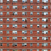 External Facade With Many Windows All Identical. Art Print