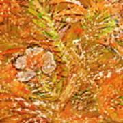 Extravaganza Orange Art Print