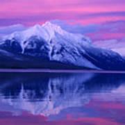 Extreme Sunset On Lake Mcdonald Art Print