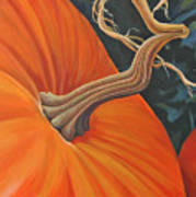 Exuberant Pumpkin Art Print