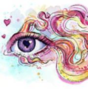 Eye Fish Surreal Betta Art Print