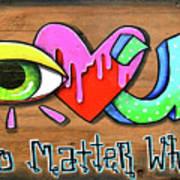 Eye Heart U Art Print