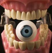 Eye Held By Teeth Print by Garry Gay