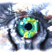 Eye In Hands 002 Art Print