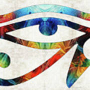 Eye Of Horus - By Sharon Cummings Art Print