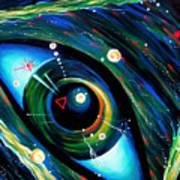 Eye Of Immortal Eternity. Timeless Space 2 Art Print