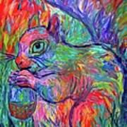 Eye Of The Squirrel Art Print