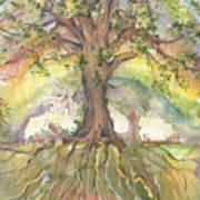 Eye See My Healing Tree Art Print