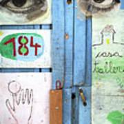 Eyes Door Art Print
