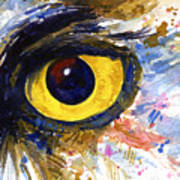 Eyes Of Owl's No.6 Art Print