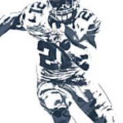 Ezekiel Elliott Dallas Cowboys Pixel Art 3 Art Print