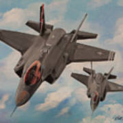 F-35's On Assignment  Art Print