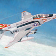 F-4b Phantom II Of Vf-111 Art Print
