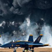 F/a -18 Super Hornet, U S Navy Blue Angeles Art Print
