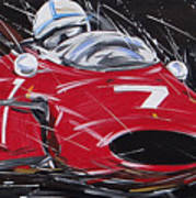F1 Surtees Ferrari 1964 Art Print