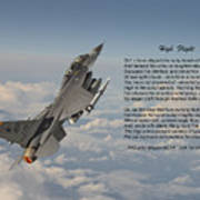 F16 - High Flight Art Print