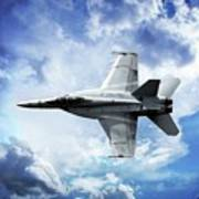 F18 Fighter Jet Art Print by Aaron Berg