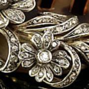 Faberge Diamond Hair Comb Detail Art Print