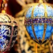 Faberge Holiday Eggs Art Print