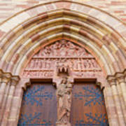 Facade Church Of Obernai,alsace France 073540 Art Print