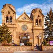 Facade Of Cathedral Basilica Of Saint Francis Of Assisi - Santa Fe New Mexico Art Print