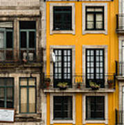 Facades Of Porto Art Print