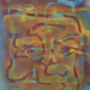 Face Of Colors Art Print