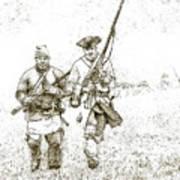 Face Of Danger Soldier Sketch Art Print