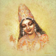 Face Of The Goddess - Lalitha Devi - Without Frame Art Print