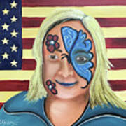 Face Paint And Freedom Art Print
