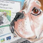 Facebook Dog Art Print