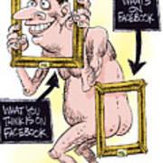 Facebook Privacy Art Print