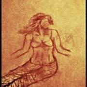 Faceless Mermaid Art Print